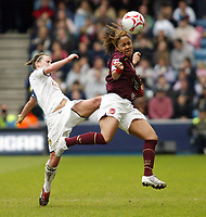 Photo: Chris Ratcliffe.<br /> Leeds United v Arsenal. Womens' FA Cup Final. 01/05/2006.<br /> Alex Scott (R) of Arsenal beats Alex Culvin of Leeds to the ball.