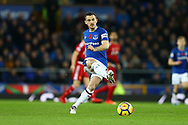Leighton Baines of Everton  in action. Premier league match, Everton vs Watford at Goodison Park in Liverpool, Merseyside on Sunday 5th November 2017.<br /> pic by Chris Stading, Andrew Orchard sports photography.