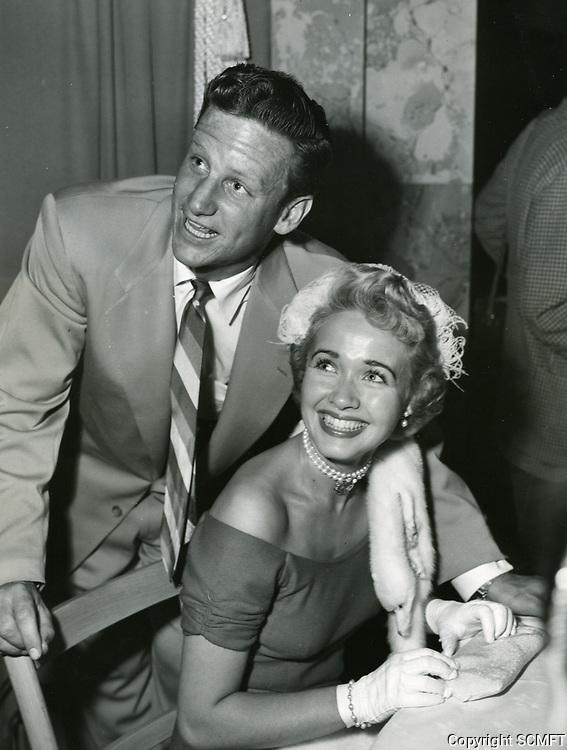 1952 Jane Powell and husband, Geary Steffen, at Ciro's Nightclub