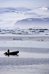July 21, 2019 - Person In Boat, Nunavut, Canada (Credit Image: © Richard Wear/Design Pics via ZUMA Wire)