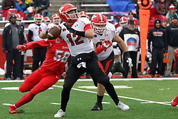 NORMAL, IL - November 17: Montgomery VanGorder during a college football game between the ISU (Illinois State University) Redbirds and the Youngstown State Penguins on November 17 2018 at Hancock Stadium in Normal, IL. (Photo by Alan Look)