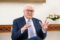02 FEB 2021, BERLIN/GERMANY:<br /> Frank-Walter Steinmeier, Bundespraesident, waehrend einem Interview, Robert-Blum-Saal, Schloss Bellevue<br /> IMAGE: 20210202-01-033<br /> KEYWORDS: BUndespräsident