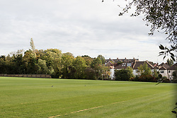 Houses bordering the University College School's playing fields in Hampstead, North London, which has reconsidered its permission for a limited number of helicopter landings and take-offs from its playing fields after complaints from neighbours. Hampstead, London, October 12 2018.