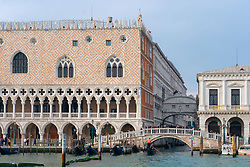 Views of the Doge's Palace and the Bridge of Sighs in Venice. From a series of travel photos in Italy. Photo date: Monday, February 11, 2019. Photo credit should read: Richard Gray/EMPICS