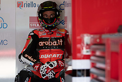 May 10, 2019 - Imola, BO, Italy - Chaz Davies of ARUBA.IT Racing - Ducati at box during the free practice 1 of the Motul FIM Superbike Championship, Italian Round, at International Circuit ''Enzo and Dino Ferrari'', on May 10, 2019 in Imola, Italy  (Credit Image: © Danilo Di Giovanni/NurPhoto via ZUMA Press)