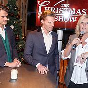NLD/Amsterdam/20151126 - Perspresentatie The Christmas Show, Irene Moors met Maurice Wijnen en Sjoerd van Schooten (Managing Director RTL)