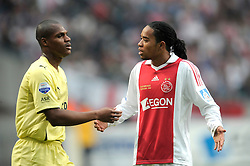 25-04-2010 VOETBAL: AJAX - FEYENOORD: AMSTERDAM<br /> De eerste wedstrijd in de bekerfinale is gewonnen door Ajax met 2-0 / Andre Bahia en Urby Emanuelson<br /> ©2010-WWW.FOTOHOOGENDOORN.NL
