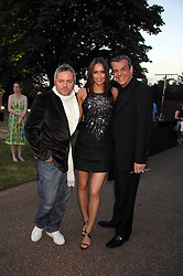 Left to right, NELLIE HOOPER, SASHA VOLKOVA and actor DANNY HUSTON at the annual Serpentine Gallery Summer Party in association with Swarovski held at the gallery, Kensington Gardens, London on 11th July 2007.<br />