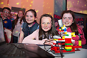 Clodagh McWalter, Cara Higgins, Siobhan McDonagh, Gardenfields NS at the annual Junior FIRST Lego League run by Galway Education Centre, in the Radisson blu Hotel.  Photo:Andrew Downes<br />  Photo:Andrew Downes, XPOSURE