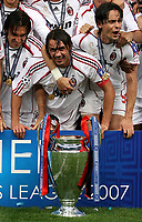 Photo: Paul Thomas.<br /> AC Milan v Liverpool. UEFA Champions League Final. 23/05/2007.<br /> <br /> Paolo Maldini and Milano celebrate.