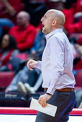 NORMAL, IL - January 05:  Matt Ruffing during a college women's basketball game between the ISU Redbirds and the Purple Aces of University of Evansville January 05 2020 at Redbird Arena in Normal, IL. (Photo by Alan Look)