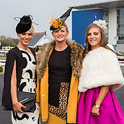 09.10.2016           <br /> Attend the Keanes Jewellers Best dressed competition at Limerick Racecourse were, Sarah Lee, Margaret Lee and Katie Forde, Newcastlewest Co. Limerick. Picture: Alan Place