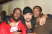**EXCLUSIVE**.Wyclef Jean, Joel Rousseau & Pras Michel.Nightclub Impresario, Joel Rousseau, hosts Pras Michelís of the Fugees, 34th Birthday Party .Cain Nightclub.Friday, October 20, 2006 .New York City, NY, USA.Photo By Selma Fonseca/ Celebrityvibe.com.To license this image call (212) 410 5354 or;.Email: celebrityvibe@gmail.com; .Website: http://www.celebrityvibe.com/. ....