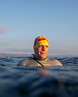 Henry O'Donnell on day one of finswim 2020, his expecdition to fin swim around Ireland. Photo Rory O'Donnell