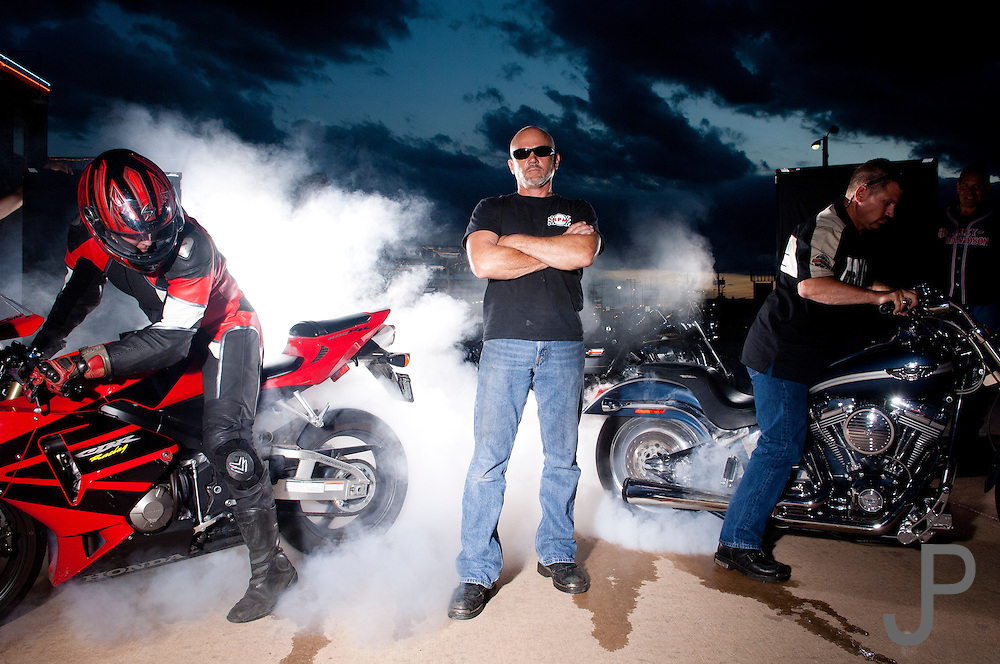 Buddy Moore with RPM Performance Cycle works on both sport bike and hot rod cruiser bikes.