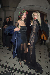 Left to right, TISH WEINSTOCK and IDINA MONCRIEFFE at the Veuve Clicquot Widow Series launch party hosted by Nick Knight and Jo Thornton MD Moet Hennessy UK held at The College, Central St.Martins, 12-42 Southampton Row, London on 29th October 2015.