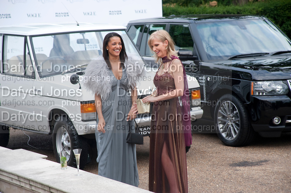 TSOGO ONANA-LAURENCE; CHARLEEN CLARKE;, Alexandra Shulman, Editor of Vogue & Phil Popham, Managing Director of Land Rover<br /> host the 40th Anniversary of Range Rover. The Orangery at Kensington Palace. London. 1 July 2010. -DO NOT ARCHIVE-© Copyright Photograph by Dafydd Jones. 248 Clapham Rd. London SW9 0PZ. Tel 0207 820 0771. www.dafjones.com.