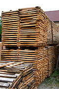 storage for staves to make barrels tonnellerie gillet st romain cote de beaune burgundy france