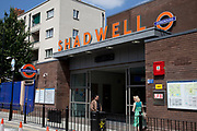 New London Overground train line in East London. This is the replacement for the old East London underground line. It opened in May 2010. Shadwell Station.