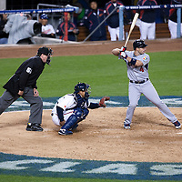 22 March 2009: #4 David Wright of team USA is seen at bat during the 2009 World Baseball Classic semifinal game at Dodger Stadium in Los Angeles, California, USA. Japan wins 9-4 over Team USA.