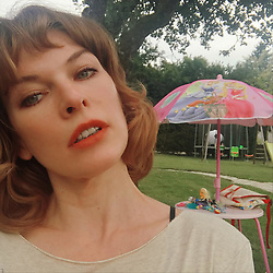"""Milla Jovovich releases a photo on Instagram with the following caption: """"#tbt 2 weeks ago in France. Where rumor has it, the naked ladies dance.\ud83d\ude09#frenchdiary"""". Photo Credit: Instagram *** No USA Distribution *** For Editorial Use Only *** Not to be Published in Books or Photo Books ***  Please note: Fees charged by the agency are for the agency's services only, and do not, nor are they intended to, convey to the user any ownership of Copyright or License in the material. The agency does not claim any ownership including but not limited to Copyright or License in the attached material. By publishing this material you expressly agree to indemnify and to hold the agency and its directors, shareholders and employees harmless from any loss, claims, damages, demands, expenses (including legal fees), or any causes of action or allegation against the agency arising out of or connected in any way with publication of the material."""