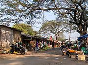 Steet shops in a suburb close to Jorhat, Assam, India.