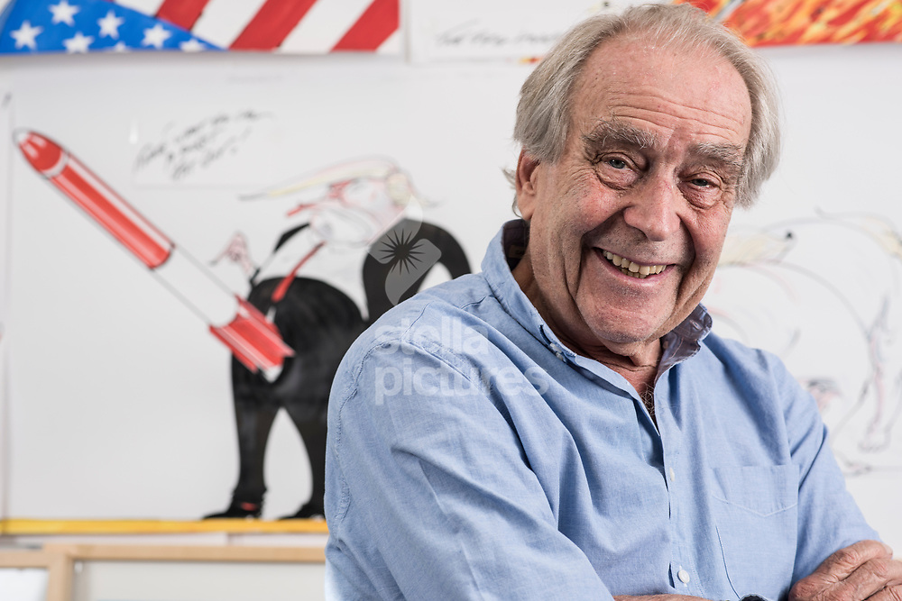 English cartoonist and illustrator Gerald Scarfe. <br /> Picture by Daniel Hambury/Stella Pictures Ltd 07813022858<br /> 01/09/2017