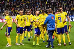 November 20, 2018 - Stockholm, Sweden - 181120 The players of Sweden prior to the Nations League football match between Sweden and Russia on November 20, 2018 in Stockholm..Photo: Petter Arvidson / BILDBYRÃ…N / kod PA / 87811 (Credit Image: © Petter Arvidson/Bildbyran via ZUMA Press)