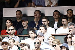June 10, 2018 - Paris, Ile-de-France, France - Zinedine Zidane, his wife Veronique and their sons Luca and Enzo attend the Men Final of the 2018 French Open - Day Fithteen at Roland Garros on June 10, 2018 in Paris, France. (Credit Image: © Mehdi Taamallah/NurPhoto via ZUMA Press)
