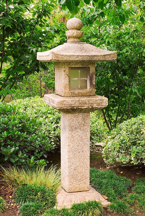 Oribe-doro (stone lantern) at the Japanese Friendship Garden in Balboa Park, San Diego, California