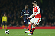Carl Jenkinson of Arsenal in action. UEFA Champions league group A match, Arsenal v Paris Saint Germain at the Emirates Stadium in London on Wednesday 23rd November 2016.<br /> pic by John Patrick Fletcher, Andrew Orchard sports photography.