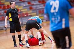 During handball match between RD LL Grosist Slovan and RK Jeruzalem Ormoz in 1st round of Playoffs of 1st NLB Leasing League 2017/18, on March 9, 2018 in Sports hall Kodeljevo, Ljubljana, Slovenia. Photo by Urban Urbanc / Sportida