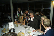 ELLE MACPHERSON AND DINOS CHAPMAN, Frieze Cartier Dinner. Shoreditch House. London. 11 October 2007. -DO NOT ARCHIVE-© Copyright Photograph by Dafydd Jones. 248 Clapham Rd. London SW9 0PZ. Tel 0207 820 0771. www.dafjones.com.