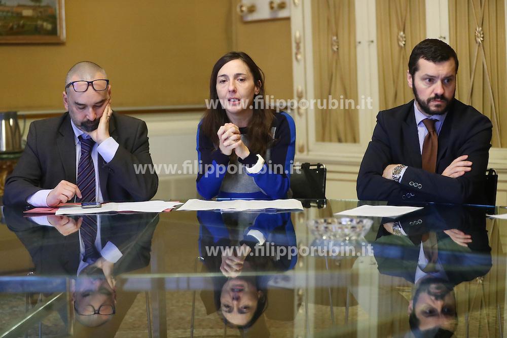 MASSIMO MAISTO ANNA MARIA PACELLI MATTEO LUDERGNANI<br /> CONFERENZA PROLUNGAMENTO MOSTRA ORLANDO FURIOSO