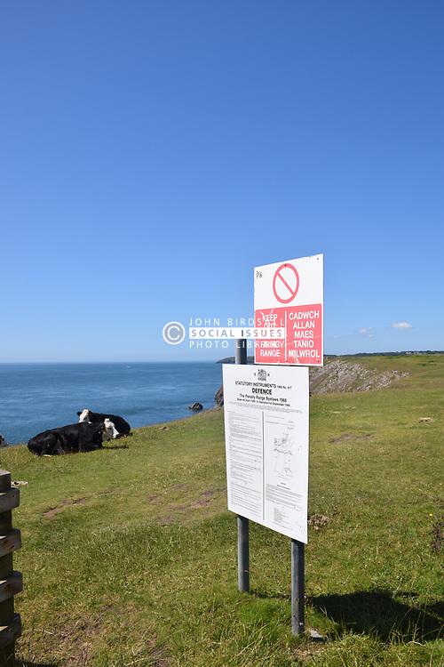 MOD firing range, Pembrokeshire, South Wales 2021