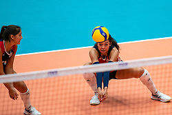 Jordan Middleton of USA in action during United States - Netherlands, FIVB U20 Women's World Championship on July 15, 2021 in Rotterdam