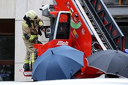 Firefighter drill at Telekom building, on October 21, 2016 in Ljubljana, Slovenia. Photo by Matic Klansek Velej / Sportida