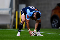 Guinness PRO14, Parc y Scarlets, Llanelli, UK 22/8/2020<br /> Scarlets v Cardiff Blues<br /> Josh Adams of Cardiff Blues scores a try<br /> Mandatory Credit ©INPHO/Ryan Hiscott