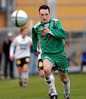 Fotball 2. div. 02.05.05, RBK 2 - Innstranden,<br /> Thomas Sivertsen<br /> Foto: Carl-Erik Eriksson, Digitalsport