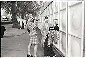 TRINNY WOODALL AND SUSANNAH CONSTANTINE, LONDON FASHION WEEK. 1996