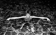 Boomtown Rats Bob Geldof in the hotel pool, 1978 tour