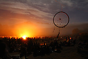 Thousands of members of the Rainbow Family gathered during the weekend of the Full moon celebration. European Rainbow Gathering of 2011 in Portugal