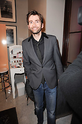 Actor DAVID TENNANT at the after show party following the first night of the musical Legally Blonde, held at the Waldorf Hilton Hotel, Aldwych, London on 13th January 2010.