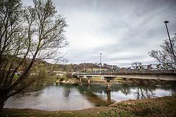 Peloton at river Krka during cycling race 6th Grand Prix Adria Mobil 2021, on March 28, 2021, in Novo mesto, Slovenia. Photo by Vid Ponikvar / Sportida