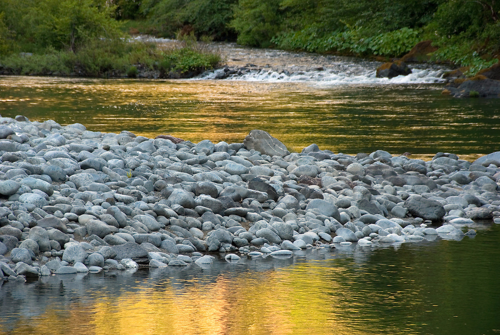 The confluence of Klondike Creek and the Illinois River in Oregon's Siskiyou Mountains.