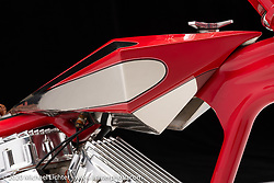 Mondo Porras's Discovery Bike, a Denver's Digger, built in 2004. Photographed by Michael Lichter in Sturgis, SD. August 4, 2020. ©2020 Michael Lichter