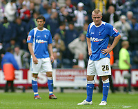 Photo: Paul Thomas.<br /> Preston North End v Birmingham City. Coca Cola Championship. 06/05/2007.<br /> <br /> Dejected Gary McSheffrey and his Birmingham team-mates after Preston score, which would deny them the winners of the Championship.