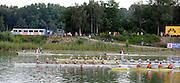 Ottensheim, AUSTRIA.  A  Final,  LM8+  at the 2008 FISA Senior and Junior Rowing Championships,  Linz/Ottensheim. Sunday,  27/07/2008.  [Mandatory Credit: Peter SPURRIER, Intersport Images] Rowing Course: Linz/ Ottensheim, Austria