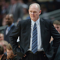 08 November 2010: Denver Nuggets' head coach George Karl is seen during the Chicago Bulls 94-92 victory over the Denver Nuggets at the United Center, in Chicago, Illinois, USA.