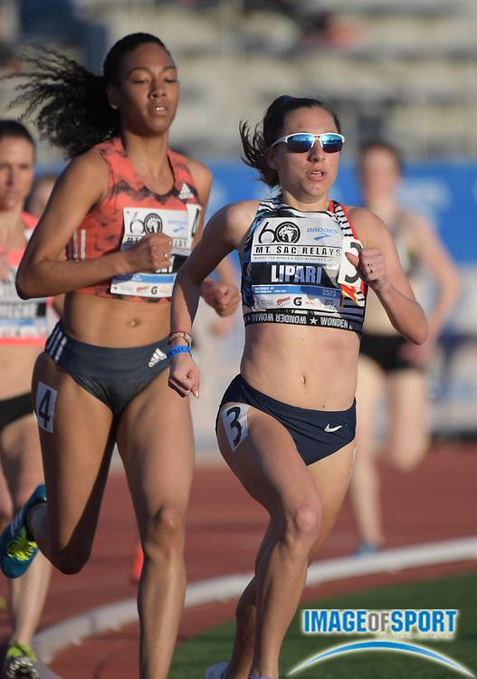 Apr 20, 2018; Torrance, CA, USA; Emily Lipari places fourth in the invitational women's 1,500n in 4:18.31 during the 60th Mt. San Antonio College Relays at Murdock Stadium.